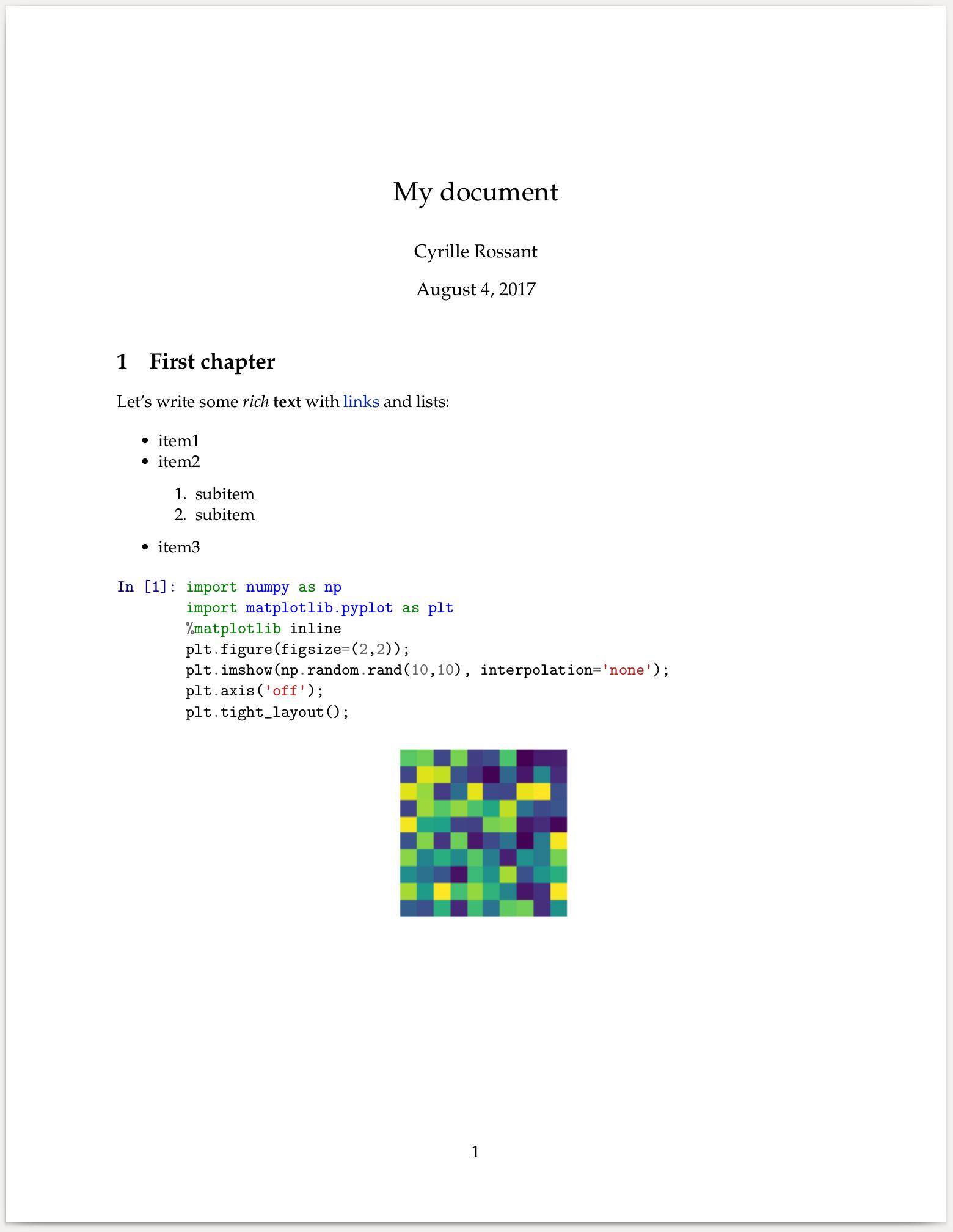IPython Cookbook - 3 2  Converting a Jupyter notebook to