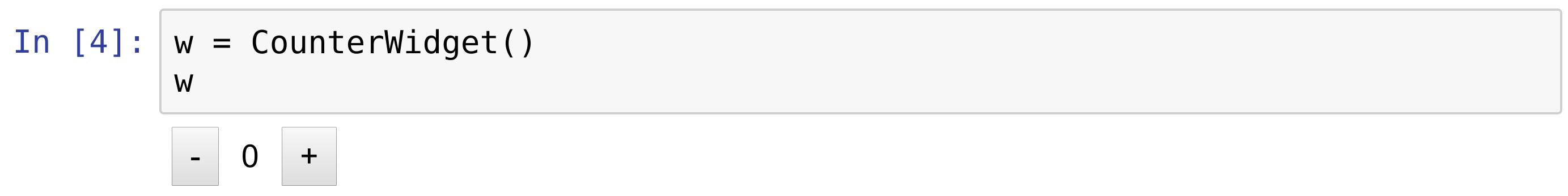 Custom widget