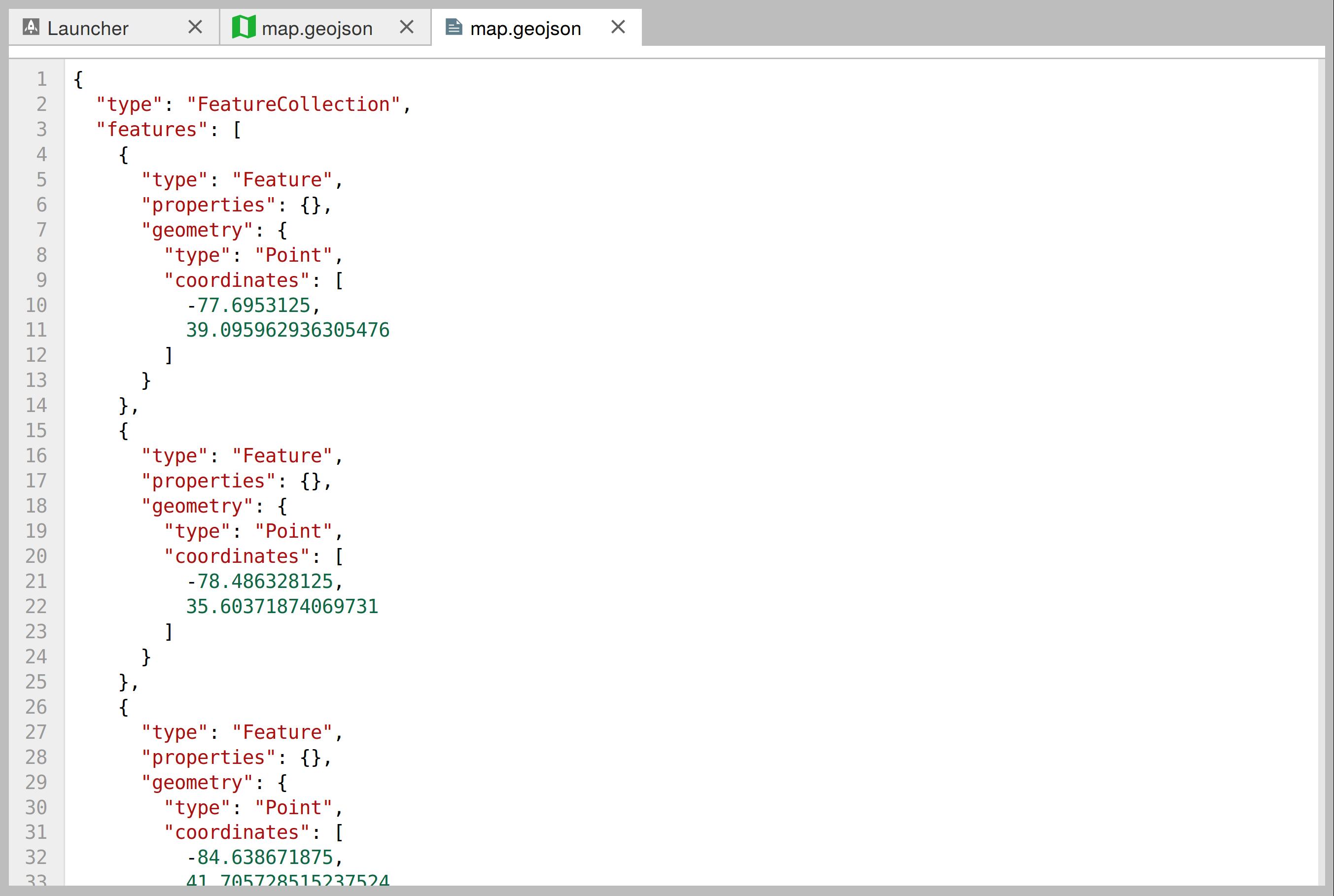 Editing a GeoJSON file