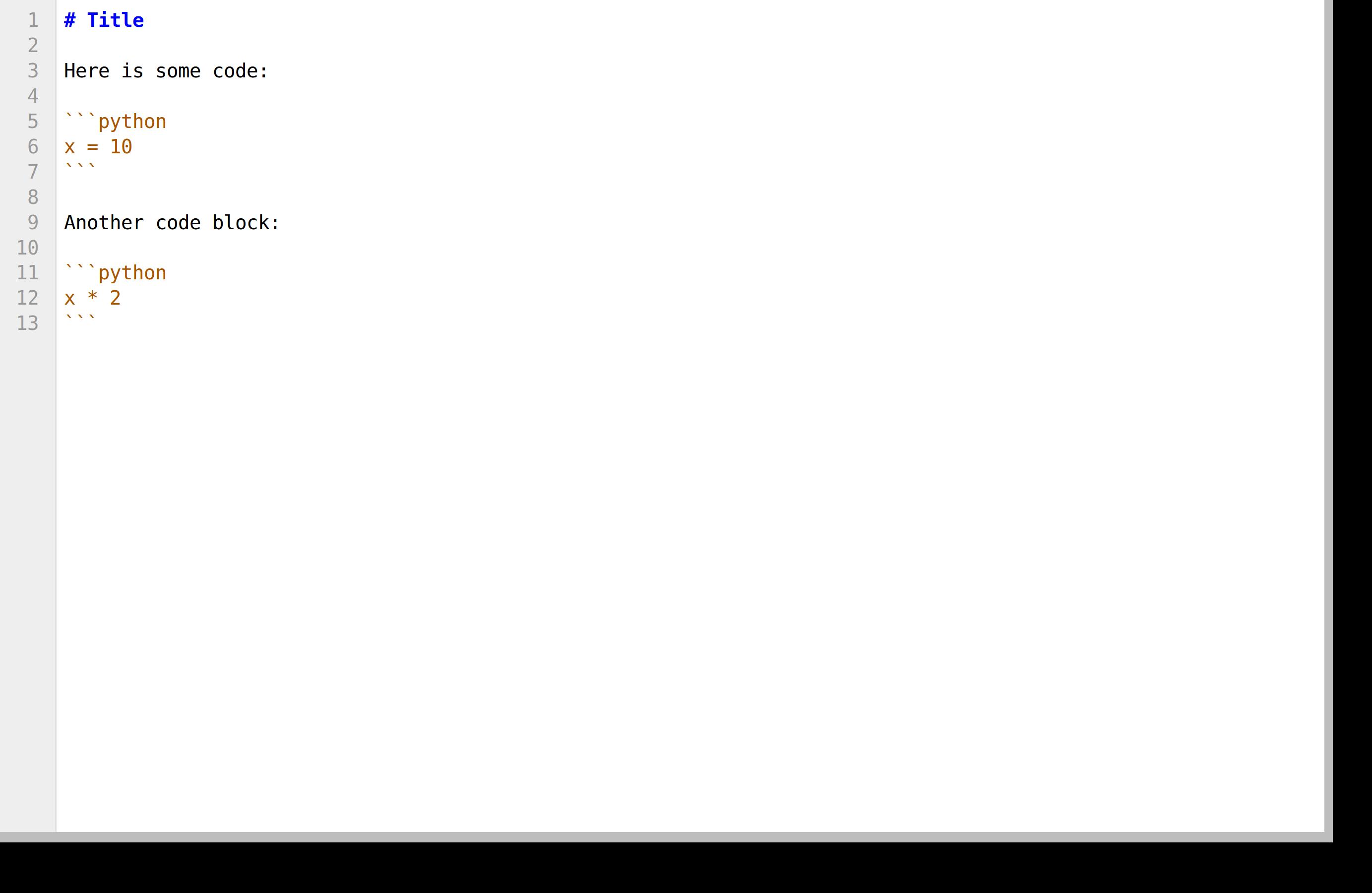 Markdown document